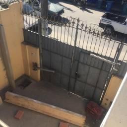 Portão de chapa galvanizada