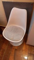 cadeira giratória em inox tok  stok