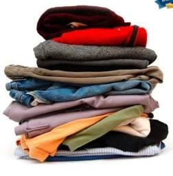 Lote de roupas de inverno usadas