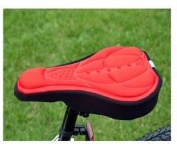 Título do anúncio: Capa De Selim De Silicone Almofada De Gel De Sílica Flexível Bicicleta Ciclismo