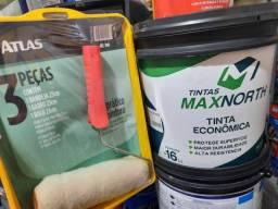 Título do anúncio: Tinta 16L uso interna e externa + 1 kit pintura na Cuiabá tintas.. imperdível