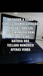 Notebook i3 quinta geração