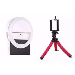 Mini Tripé Flexível e Ring Light para Celular >> Super Oferta <