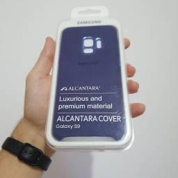 Capa SAMSUNG para Galaxy S9 em ALCANTARA - Azul ou Cinza
