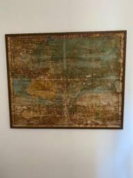 Raridade Mapa Oceania Colecao Jeaen Brunhes Original seculo 19