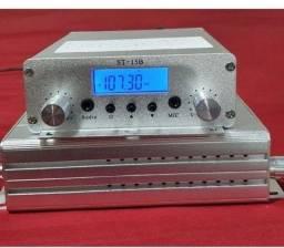 Transmissor de FM com 15 Wts de Potência , Novo !