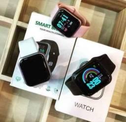 Smartwatch D20 Atualizado# Cores : Branca, Rosa e preto.