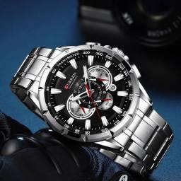 ?Relógio de luxo Curren - 100% original (3 meses de garantia) - (em Dourados)