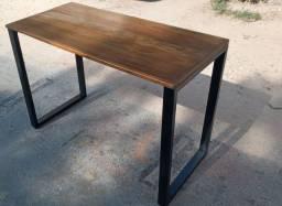 114×50×75 mesa de Madeira demolição com pés de 3