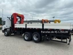 """Mercedes-Bens Atego 2426 2018 Munck Madal Palfinger 45 """"T"""" Entrada com Parcelas e Serviço."""