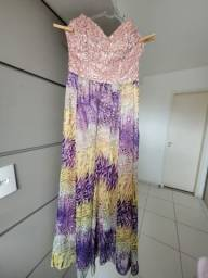 Vendo Vestido de Festa Longo Estampado Tam. 40