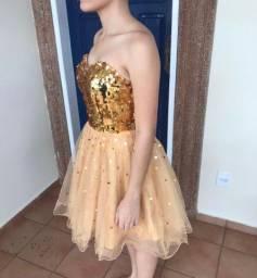 Vestido Dourado Debutante (15 anos)