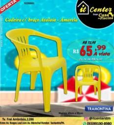 Título do anúncio: Cadeira Com braço Atalaia Amarela