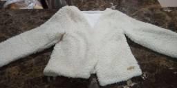 Casaco de lã infantil menina Tam 8 e penico