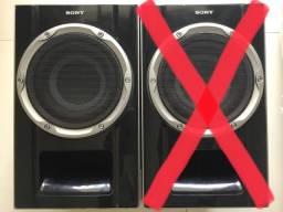1 caixa de som Sony subwoofer passiva