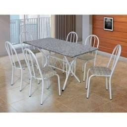 Mesa de mármore com 6 cadeiras direto da fábrica