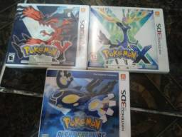 Lote jogos pokemon 3ds