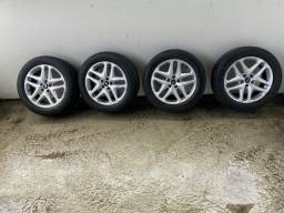 Jogo de rodas 17 com 4 pneus pirelli!