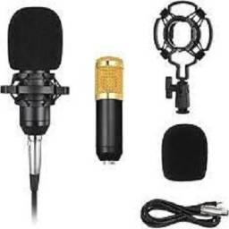 vendemos microfones condenssadores bm 800 entrada p2  otimos pra studios e youtubes
