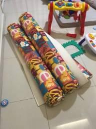 Tapete de atividade infantil colorido