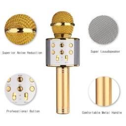 Título do anúncio: Microfone Karaokê Bluetooth NOVO!