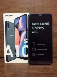 Smartphone Samsung Galaxy A10s Preto 32GB, Câmera Dupla Traseira.