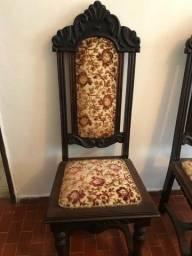 6 cadeiras estilo colonial