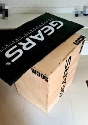 Combo Plyo Box Cross Fit 75 x 60 x 50cm Gears + colchão Gears