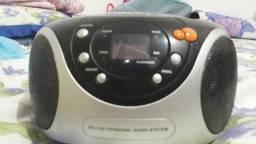 Som portátil rádio e CD