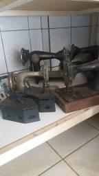 Maquinários, máquinas de costura, ferros a brasa etc...