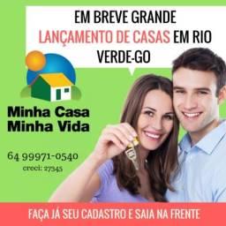 Lançamento de casas em Rio Verde - GO Minha casa minha vida