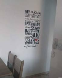 Adesivo parede frase familia