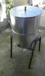 Fritadeira óleo e água