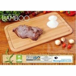 Tábua Madeira Bambu Para Carne Churrasco Peixes Grande