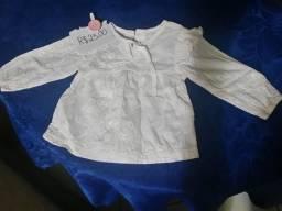 Blusa bata infantil - 6 meses a 1 ano e meio - usada 2 vezes 9efc6b783a8