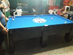 Mesa Gaveta de Sinuca | Mesa Preta | Tecido Azul | Grêmio | Modelo: FRSZ9354