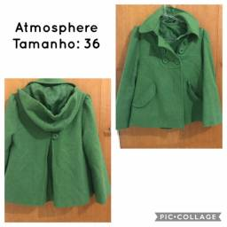 Casaco verde da Atmosphere - Usado 2x