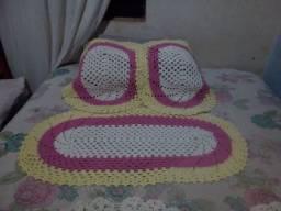 Conjuntos de Tapetes de crochê