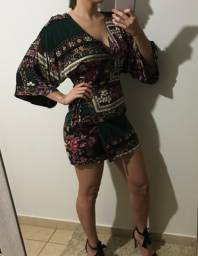 Vestido transpassado P