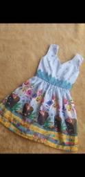 Kit 10 vestidos tematicos +conjunto masculino tematico infantil Baby shark 3 anos por 250