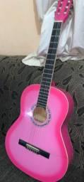 Violão gianini rosa