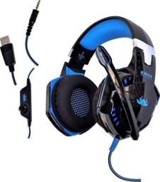 Fone gamer knup kp-455A com led