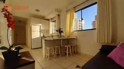 Apartamento 1 dormitório, mobiliado no Edifício Diamantina, Centro de Balneário Camboriú/S