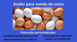 Propaganda de vinheta venda de ovos