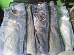 Desapego: 5 calças jeans.