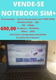 Vende-se Notebook Sim + Usado