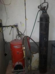 Conjunto de solda oxigênio completos com 15metros de mangueiras gêmeas
