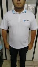 4 camisas polos com seu logo bordado no peito - Uniforme
