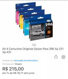 04 Cartuchos Epson Novo
