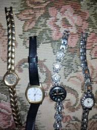Lote com 7 relógios antigos femeninos e masculinos
